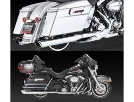 Vance and Hines TWIN SLASH ROUND Slip-On Mufflers for Touring Models