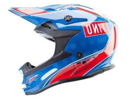 Unit Aerotech Electric Sky Blue/Red Helmet