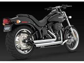 Vance & Hines Bigshot Staggered Dyna Chrome