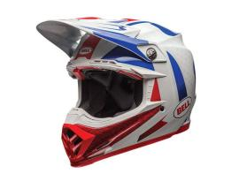 Bell Moto 9 Flex Vice Blue Red Helmet 2017