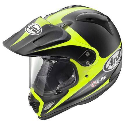 Arai XD-4 Route Yellow Helmet