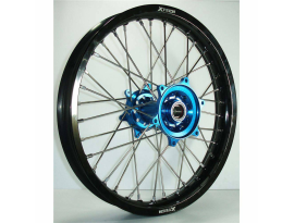 X Tech MX Mini Wheel Rear YZ85 RM85 2002 UP Black Rim Blue Hub Silver Spokes 16 X 1.85