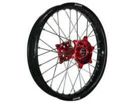 X Tech MX Mini Wheel Rear CRF150R 2012 Up Black Rim Red Hub Silver Spokes 16 X 1.85