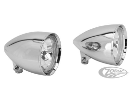 Moondancer Headlight in Billet - Chrome