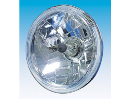 Zodiac Diamond Cut 7 Inch Halogen Headlight Unit
