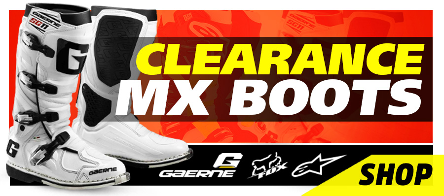 Clearance MX Boots, Gaerne, Fox, Alpinestar
