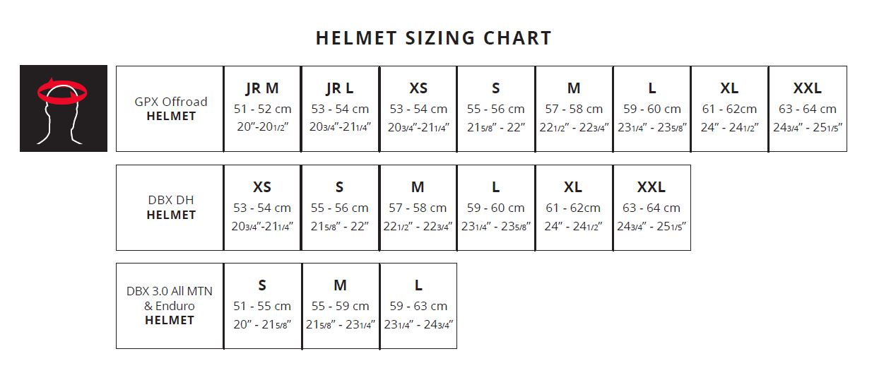Leatt Sizing Chart | MCAS