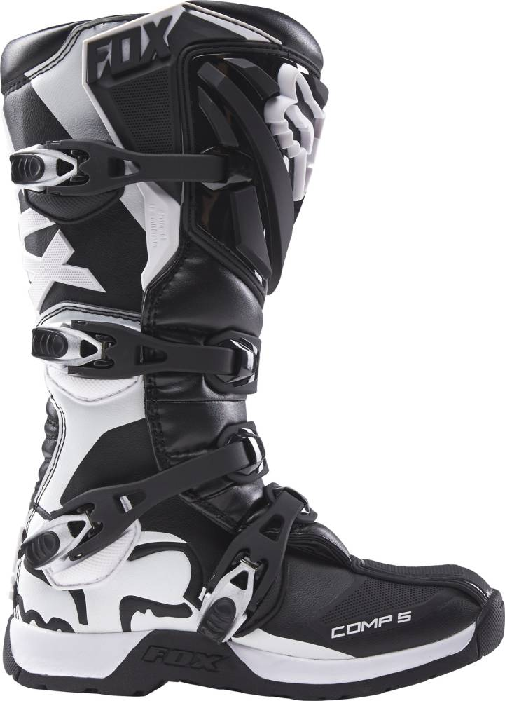 motocross boots fox comp 5 black white boots 2017 womens
