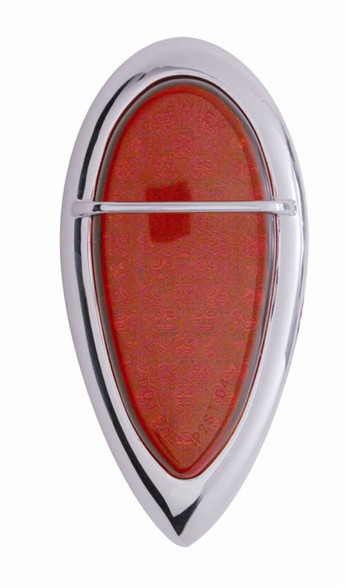 Traffic Cone Chrome Tear Drop Double Sided Key Ring New